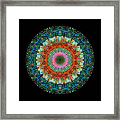 Life Joy - Mandala Art By Sharon Cummings Framed Print
