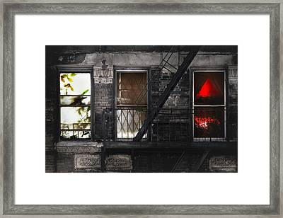 Life Learning And Love - Three Windows And A Story Framed Print by Gary Heller