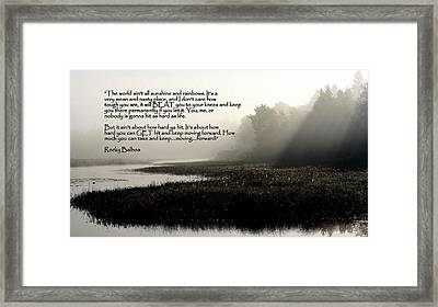 Life Lessons Framed Print