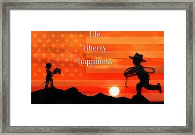 Life Liberty Happiness Framed Print