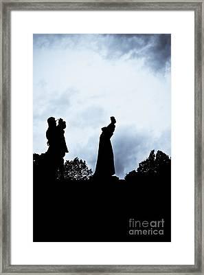 Life Mimics Art Framed Print