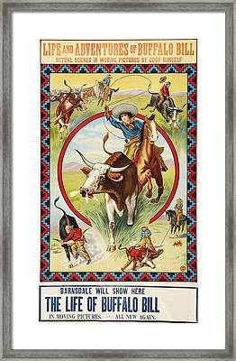 Life Of Buffalo Bill, Poster Art, 1912 Framed Print by Everett