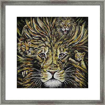 Life Of Leo Framed Print by Lovejoy Creations