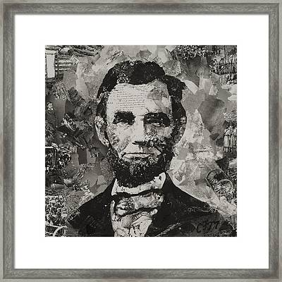 Life Of Lincoln Framed Print by Claire Muller
