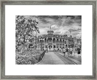 Framed Print featuring the photograph Life On Main Street by Howard Salmon