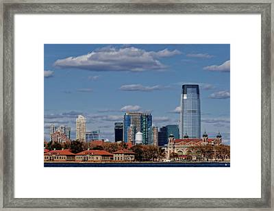 Life On New York Harbor Framed Print by Dan Sproul