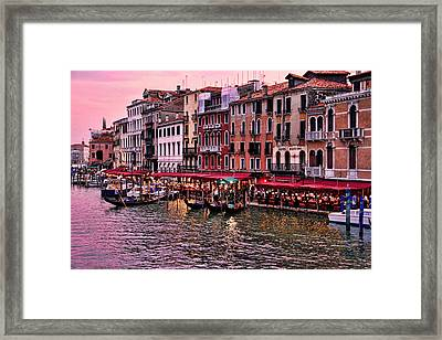 Life On The Grand Canal Framed Print
