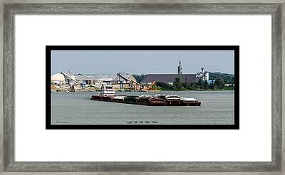 Life On The Ohio River 2 Framed Print