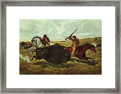 Life On The Prairie Framed Print by Currier and Ives