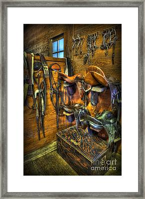Life On The Ranch - Tack Room Framed Print