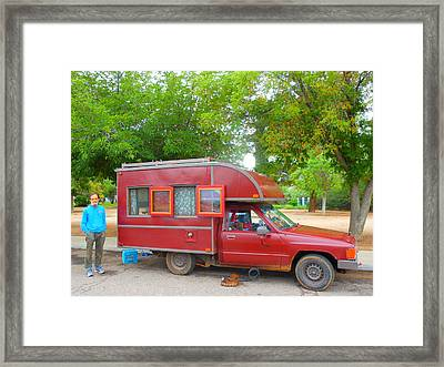 Life On The Road Framed Print