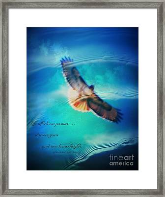 Life Reflects Our Passion Framed Print by Bobbee Rickard