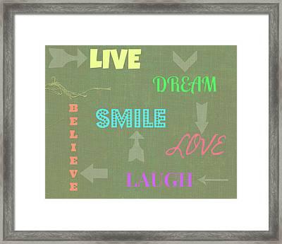 Life Reminders Framed Print