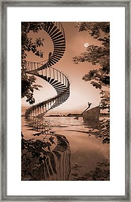 Life Without Stairs Framed Print by Shinji K