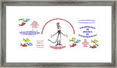 Life Words - Dr Seuss Framed Print by Georgia Fowler