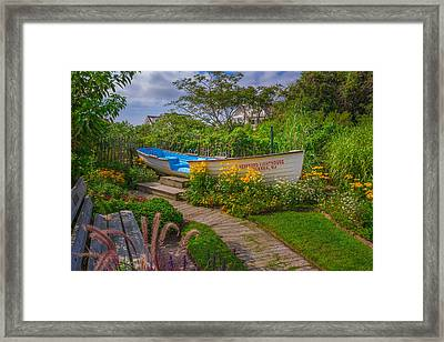 Lifeboat Seating Framed Print