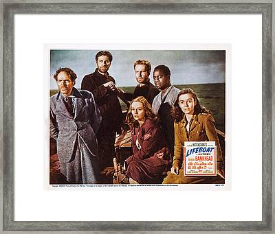 Lifeboat, Us Lobbycard, Clockwise Framed Print by Everett
