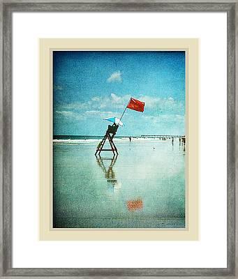 Lifeguard Flag Framed Print by Linda Olsen