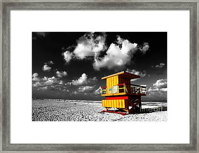 Lifeguard Fusion Framed Print by John Rizzuto