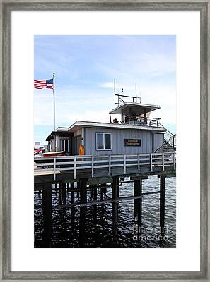 Lifeguard Headquarters On The Municipal Wharf At Santa Cruz Beach Boardwalk California 5d23827 Framed Print by Wingsdomain Art and Photography