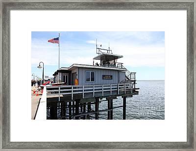 Lifeguard Headquarters On The Municipal Wharf At Santa Cruz Beach Boardwalk California 5d23828 Framed Print by Wingsdomain Art and Photography