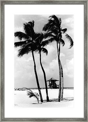 Lifeguard Hut Framed Print by Gary Gingrich Galleries