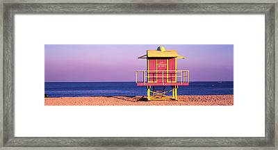 Lifeguard Hut, Miami Beach, Florida, Usa Framed Print by Panoramic Images