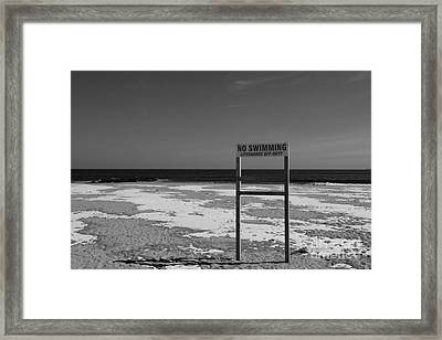 Lifeguard Off Duty Black And White Framed Print by Paul Ward