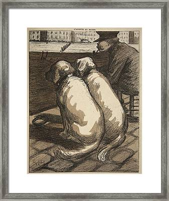 Lifeguard On The Seine In Paris Framed Print by Eugene Cadel