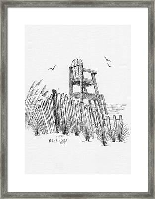 Lifeguard Stand Framed Print