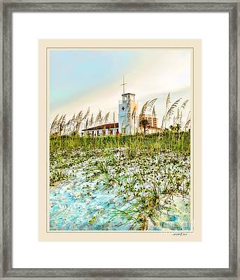 Lifeguard Station At Dusk Framed Print