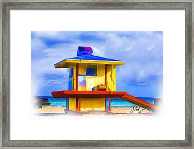 Lifeguard Station Framed Print by Gerry Robins