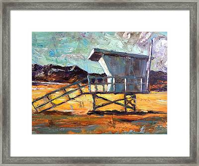 Lifeguard Station Number Two Framed Print by Lindsay Frost