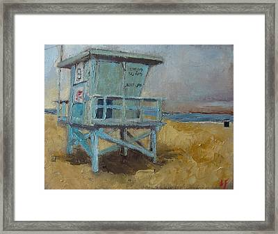 Lifeguard Station One Framed Print by Lindsay Frost