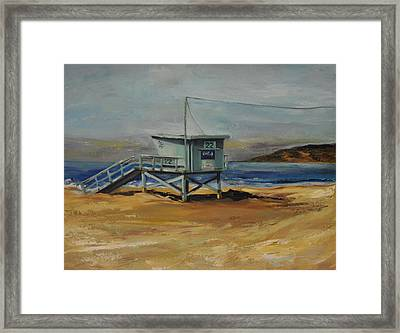 Lifeguard Station Twenty Two Framed Print