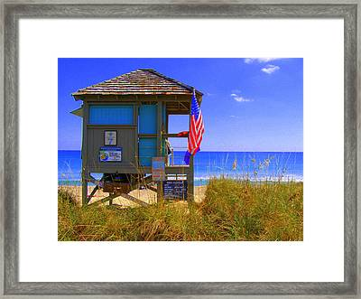 Framed Print featuring the photograph Lifeguard by Artists With Autism Inc
