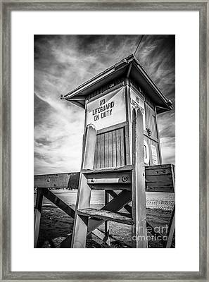 Lifeguard Tower 10 Newport Beach Hdr Picture Framed Print by Paul Velgos
