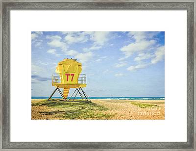 Lifeguard Tower At The Beach Framed Print