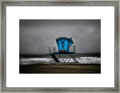 Lifeguard Tower Series - 12 Framed Print by James David Phenicie