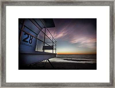 Lifeguard Tower Series - 21 Framed Print by James David Phenicie
