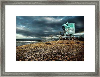 Lifeguard Tower Series - 9 Framed Print by James David Phenicie