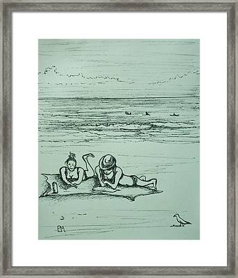 Life's A Beach Framed Print by Pete Maier