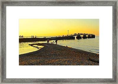Lifes A Beach Framed Print by Frozen in Time Fine Art Photography