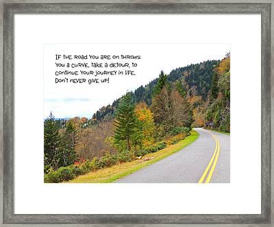 Life's Journey Framed Print