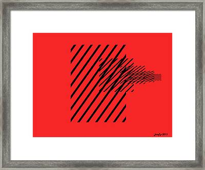Lifes Painful Hurdles Of Survival Framed Print by Sir Josef - Social Critic - ART