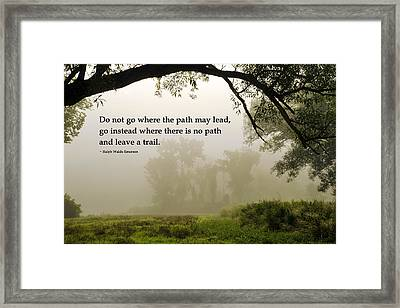 Life's Path Inspirational Art Framed Print