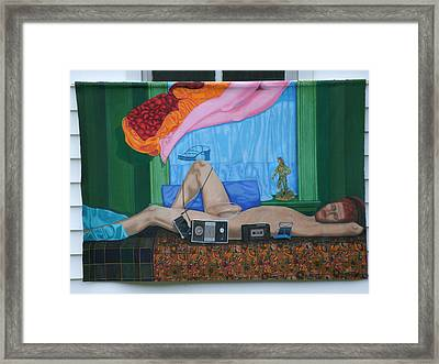 Lifesize Male Nude Framed Print