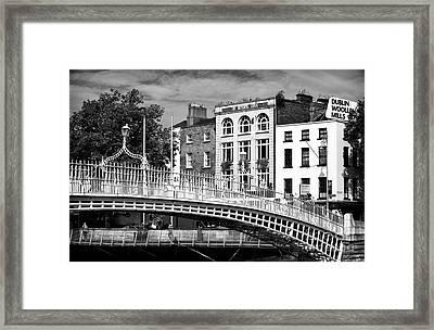 Liffey Bridge Framed Print by John Rizzuto