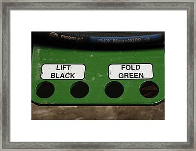 Lift Black Fold Green Framed Print by Christi Kraft