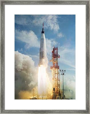 Lift Off Framed Print by Peter Chilelli